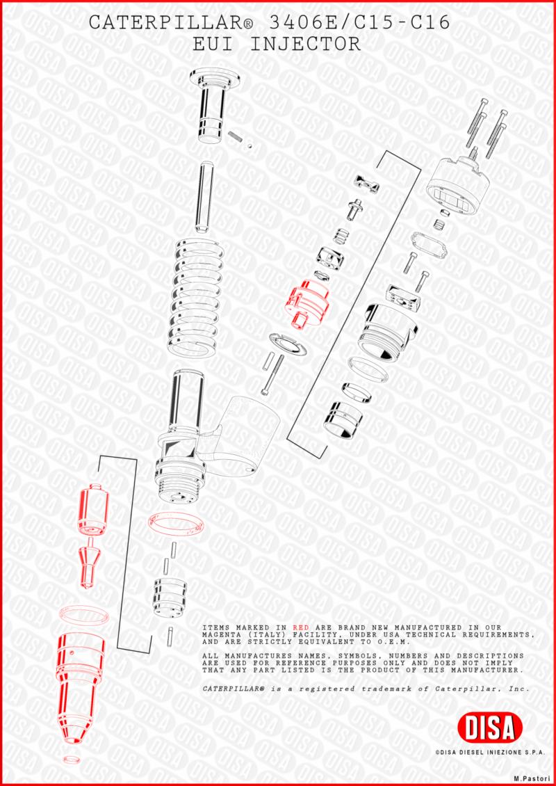 CAT_3406_C15_C16_EUI_INJECTOR